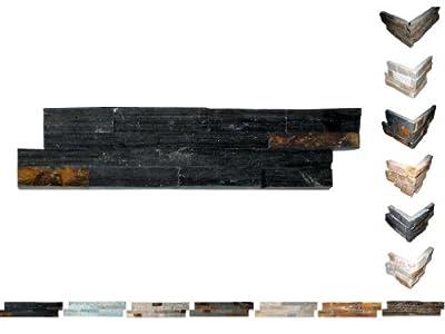 1 QM Brickstones Black Mauerverblender 60x15x1,5-3,5 cm von Mosaikdiscount24 auf TapetenShop