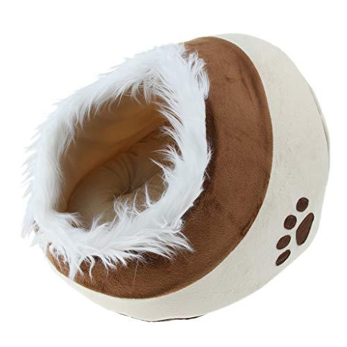 Homyl Hundehöhle Hundebett waschbare Kuschelhöhle mit Kissen für Katzen und Hunde