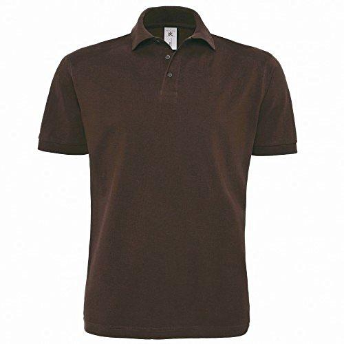 B&C Herren Polo-Shirt Heavymill, Kurzarm Ash