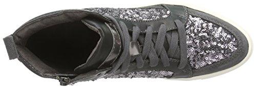 Tamaris 25202 Damen Hohe Sneakers Grau (Graphite 206)