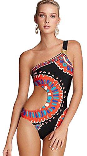 bestime-womens-trina-turk-yucateca-one-shoulder-one-piece-swimwear-size-m