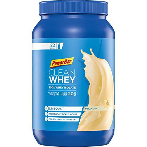PowerBar Whey Protein 100{6e4e75b892c5ba942b1bfc4ac1bf3294b21066b1d534a9bf9048664bcf0c2001} Isolate - Aminosäuren (BCAA) natürlich enthalten - Protein Shake - Vanilla Paradise (1 x 570g)