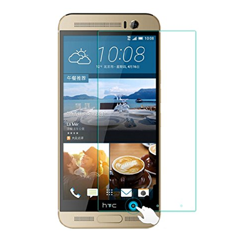 HTC One M9 Premium Screen Protector inkl. Magic Click Funktion Tempered Glass Hartglas Schutzfolie Display Schutzglas Glasfolie 0,3mm von Wunderglass