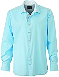 JAMES & NICHOLSON - chemise manches longues tendance - style décontracté - JN636 - Homme