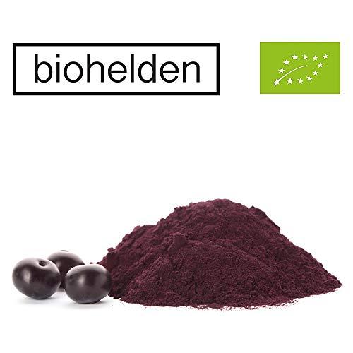 Biohelden Bio Acai Pulver 250g - natürliche Bio Qualität - Pulver aus der Acai Beere ideal für Diabetiker & reich an Antioxidantien