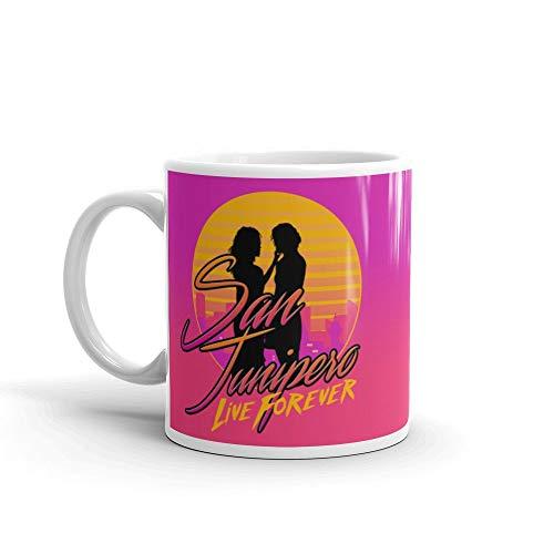 Black MIrror San Junipero - Live Forever 80s TV Series Mug Jarra Taza