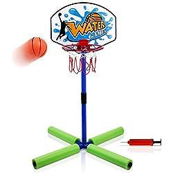 yoptote Basketball Enfant Jeu Eau Panier de Basket Mini Basket-Ball Jeux Jardin et Jouets de Plage Sport Enfant Détachable Cadeau Enfant pour 3 4 5 Ans+