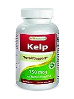 Best Naturals, Kelp 150 mcg (A Natural Source of Iodine), 300 Tablets