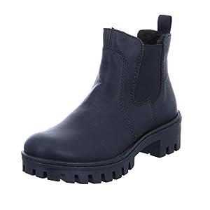 Rieker Damen Chelsea Boots 75750,Frauen Stiefel,Halbstiefel,Stiefelette,Bootie,Schlupfstiefel,flach,Blockabsatz 4.6cm