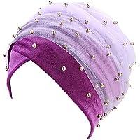 Zolimx Frauen mit Kapuze Scaves Turban Cap muslimischen Hijab Wrap Kopftuch Krawatte Hut Headwear