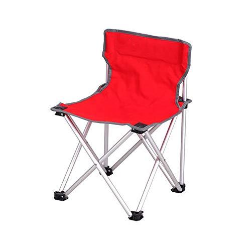 BFQY FH Chaise Pliante Extérieure, Chaise De Camping Ultra Légère Portative De Pêche De Barbecue, Chaise De Camping 40 × 40 × 57 Cm, Trois Couleurs en Option (Couleur : Red)