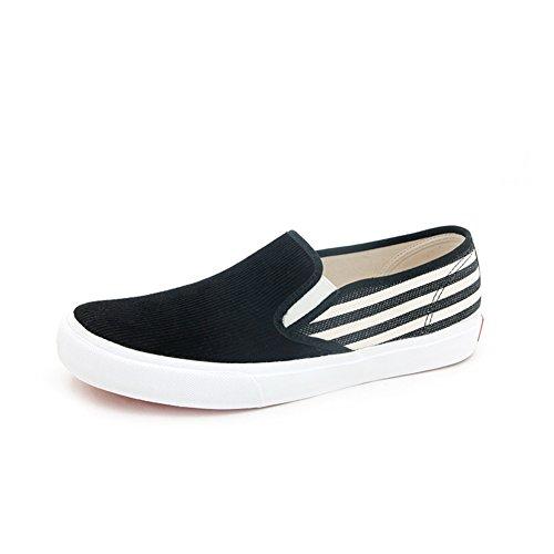 Low cut toile chaussures à l'automne/Rayés sauvages casual shoes/Ne pas lace chaussures hommes A