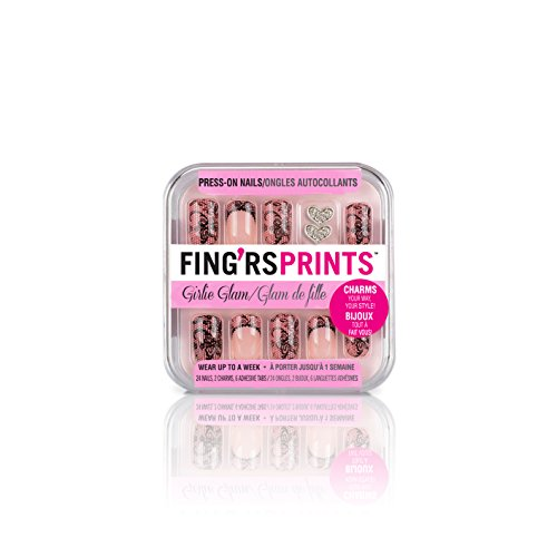 Fing'rs Prints Pre incollato Girlie Glam Nails, dolce Sagoma