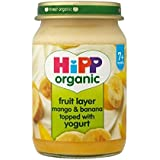 Hipp Organic Fruit couche Mango & Banana garni de yogourt 7mois + (160g) - Paquet de 2
