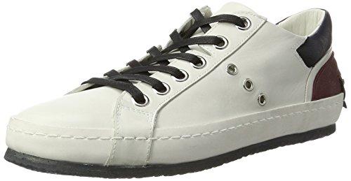 Sneakers Bassi Homme Blanc bianco Crimine Riki Ecco Londra qRBFtTw