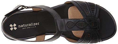Naturalizer Network Damen Schmal Leder Slingback Sandale Black