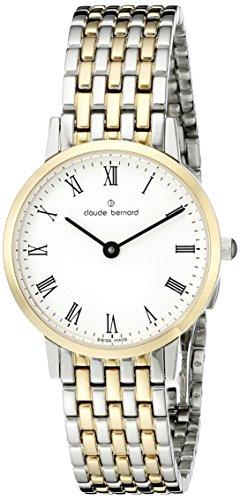 Claude Bernard Women's 20201 357JM BR Gents Slim Line Analog Display Swiss Quartz Gold Watch