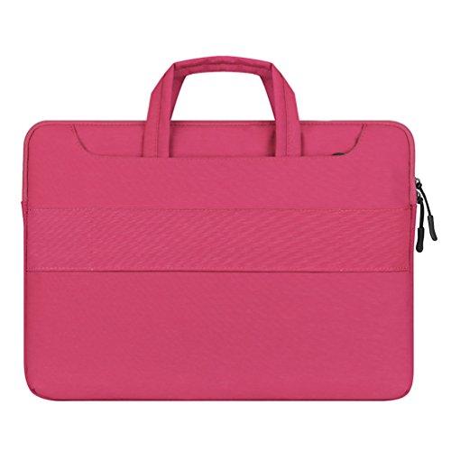 YiJee Custodia Borsa a Tracolla Ventiquattrore Sleeve Case per Portatile 15.4 Pollice Pink