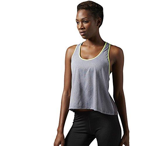 Reebok T-shirt pour femme Running Essentials Réservoir, Ash Grey Gris - Gris