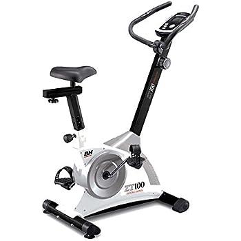 BH fitness ZT100 H315 Vélo d'appartement. Volant d'inertie 7,5kg. Système de frein magnétique. Console LCD. Roulettes de transport. Noir, blanc et argent