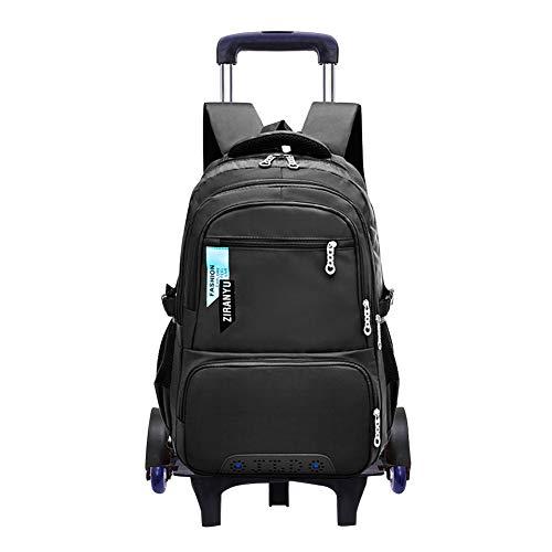 ksäcke Kinderrucksäcke - Rollen Rucksack Trolley Schultaschen Schulranzen Schultrolley Taschen Koffer Sechs Rädern Tasche Abnehmbar Junge Schüler ()