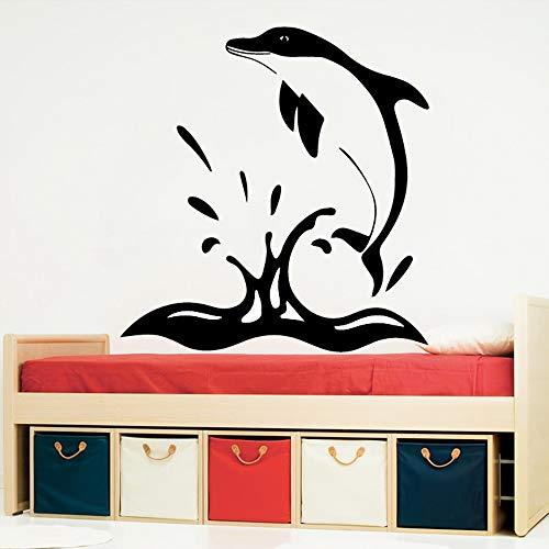 Parete Vinile Salto Delfino Home Decor Decorazione Moderna Acrilico Camera dei Bambini Natura Decor Wall Stickers Carta da Parati Impermeabile Rosa L 43cm X 45cm