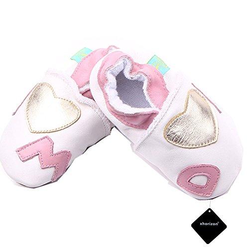 xhorizon TM FM8 Leder Unisex Baby Weich Kleinkinder Schuhe Geschenk (Stern/9-12M/12.5cm) Liebe Dad & Mom