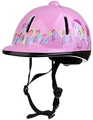 MagiDeal Casco de Equitación Ajustable Gorro de Seguridad Accesorio de Hípica de Ciclismo Casco Ajustable de Barbilla 8 Colores - Rosado