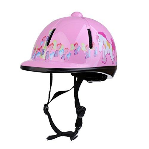 MagiDeal Kinder Reithelm, verstellbar Pferdesport Schutzausrüstung - Rosa