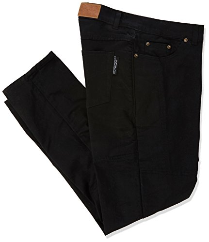 "Preisvergleich Produktbild Ladies Motorcycle Jeans CE Knee Armoured Kevlar Stretch Denim Black Size 12R (32"" - 81cm)"