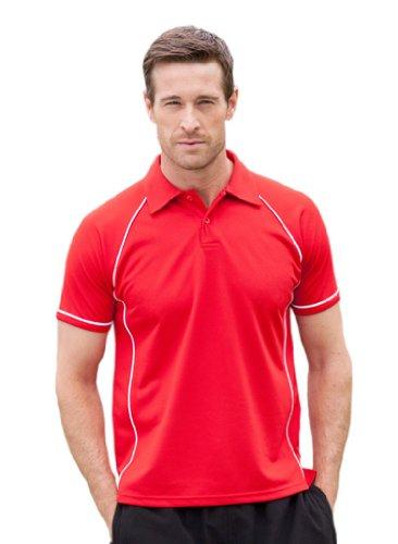 Sport Poloshirt in Kontrastfarben Red/White