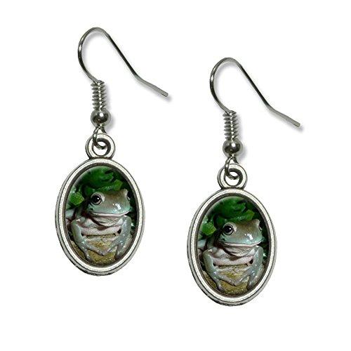 ite 's Baum Frosch NEUHEIT Dangling Drop oval Charm-Ohrringe (Baum Frosch Kostüme)
