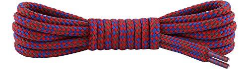 Ladeheid Qualitäts-Schnürsenkel LAKO1002, Rundsenkel für Arbeitsschuhe und Trekkingschuhe aus 100% Polyester, ø ca. 5 mm Breit, 18 Farben, 60-200 cm Länge (Muster-11, 80 cm/ø 5 mm)
