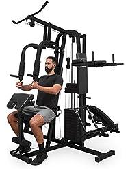 Klarfit Ultimate Gym 9000 • Multiestación de Fitness • 7 Estaciones • 100kg • Pila de