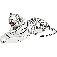 BRUBAKER gigante Tigre bianca di peluche con denti - 130 cm