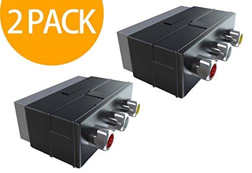 Act 2 Pack Scart Male to 3RCA Jack Female AV Adapter Converter for TV DVD VCR Video-breakout-box