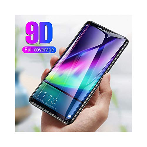 Vikimen Ausgeglichenes Glas-Film, Schirm-Schutz,9D Full Protective Screen Glass On The for P20 Mate 10 Honor 10 8 9 Lite Tempered Glass Mate 10 P20 Pro Protector Film for Mate 10 Lite White