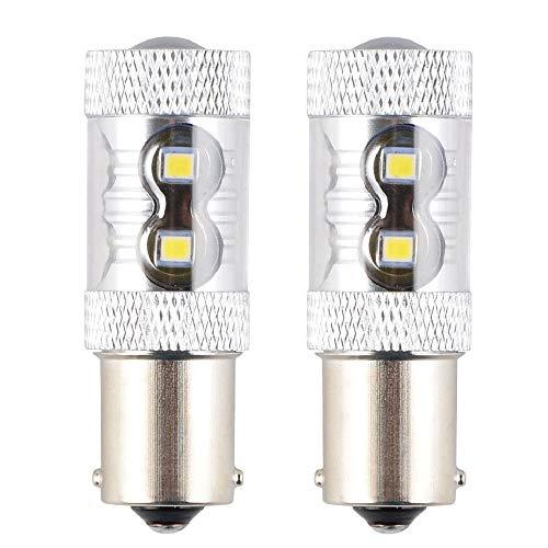 Refaxi 2Pcs Voiture A Mené La Lumière De Queue S25 1156 50W 10Led Voiture A Mené La Lumière Renversante De Lampe De Tour