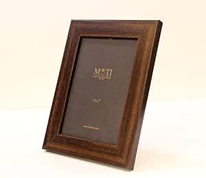 MOTI ART Wood Photo Frame (5 x 7 inch, Brown)