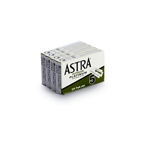 Rusty Bob - Astra Rasierklingen-platinum-classic für den klassischen Rasierhobel, Nassrasierer [geschlossener Kamm] - 20 Rasierklingen im Set