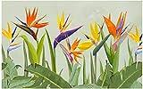 LONGYUCHEN Mural Personalizado Personalizado Hojas De Palma De Plantas Tropicales Adecuado Para Pared De Fondo 3D Decoración Del Hogar 150Cm(H)×240Cm(W)