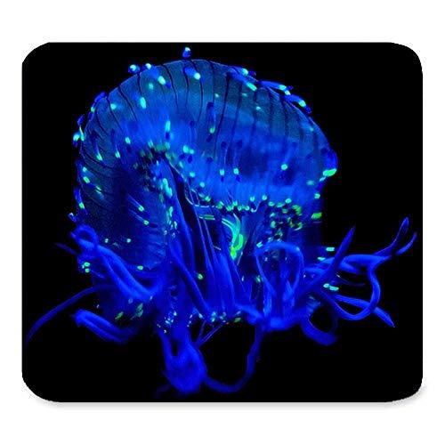 (Quallen Mosue Auflage) Kundenspezifische Rechteck-Mausunterlage Verlängerte, Marine-Blau-Quallen, Spiel-Rutschfeste Gummi große Mousepad Mat