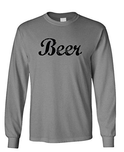 BEER funny simple college frat party joke - Long Sleeved Tee