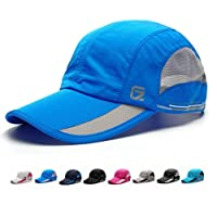 SLBGADIEME Quick Drying Lightweight Breathable Soft Sports Outdoor Running Cap Baseball Hat Fishing Cap(Classic up,Blue)