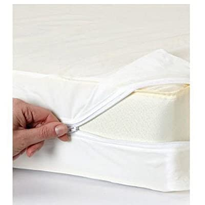 Highliving ® Zipper Anti allergy Bed bug waterproof Mattress topper Total Encasement Protector cover - low-cost UK light shop.