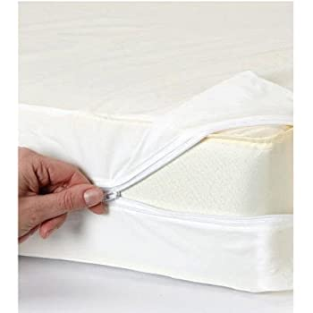 Zipped Stretch Mattress Cover Double White Amazon Co Uk