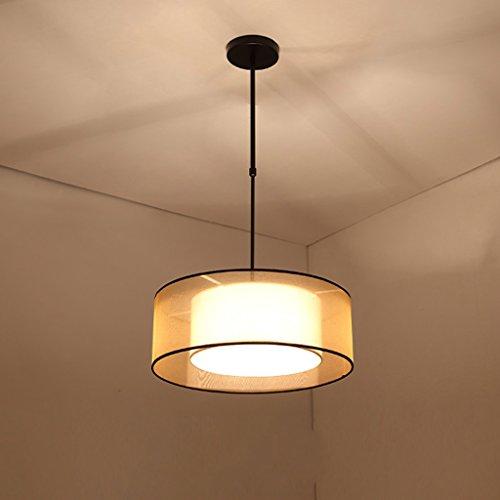 Lustre Moderne nouveau chinois tissu circulaire salon chambre rétro étude chaude hôtel restaurant lustre A+ (taille : 50 cm)