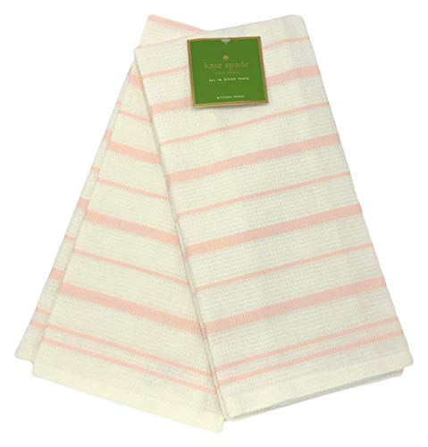 Kate Spade New York Vintage Stripe Crystal Pink 2er-Pack Küchentücher