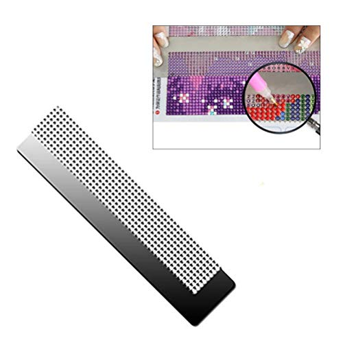 Diamond Painting Paint Tool, Diamond Screen Ruler, Diamond Drawing Tool, Painting Embroidery Pictures Art Craft Drawing Point Drill Embroidery Mesh Ruler Stainless Steel Ruler Tool - Radius Diamond