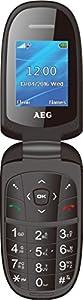 AEG M1500 1.8-Inch Clamshell UK SIM-Free Mobile Phone - Black